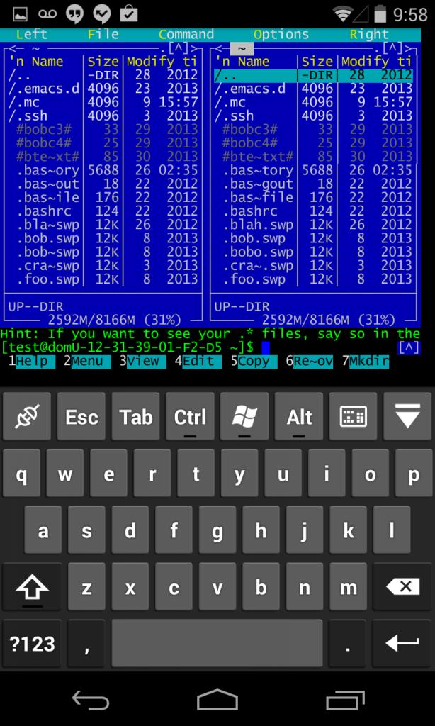 SSH/Telnet mc