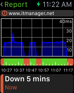 Server Monitoring - Apple Watch