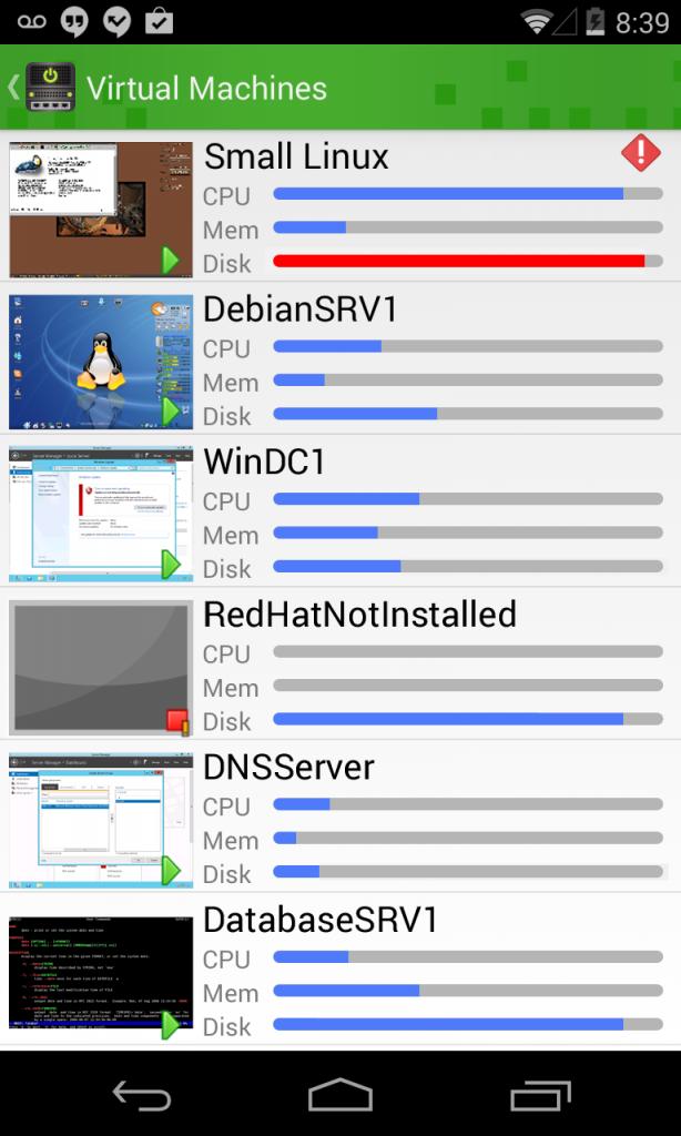 VM Listing