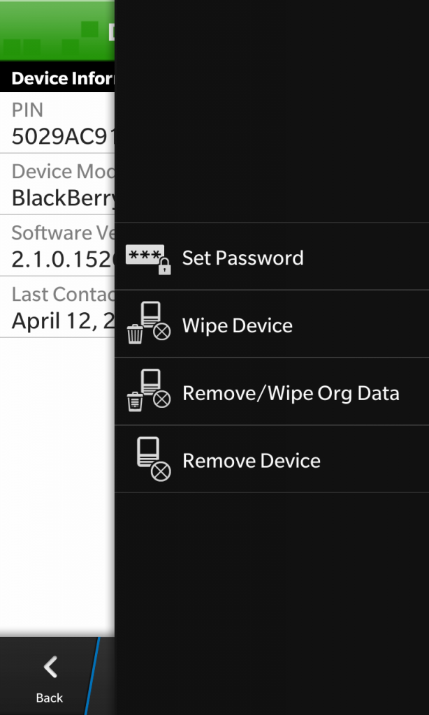 BES Device Actions